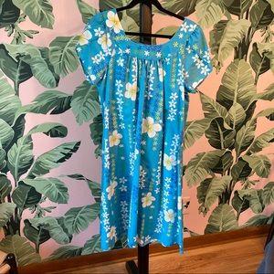 Royal Creations XL Blue Muumuu Made in Hawaii Tiki